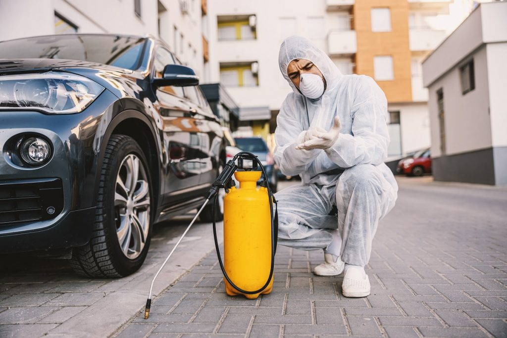 sanitizing vehicles